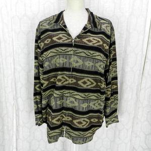 Vintage 90s Southwestern Corduroy Jacket Chico's M